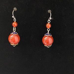 Jewelry - 🌸2/$15🌸New Carnelian Agate Bead Fashion Earrings